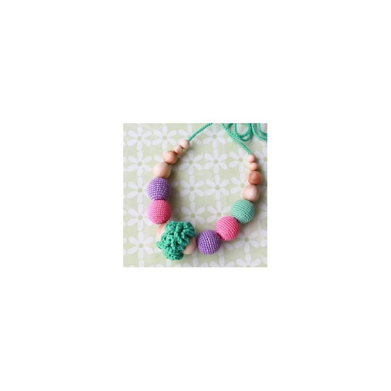 Collier de portage et d'allaitement pourpre/rose/menthe Kangaroocare