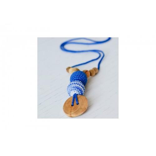 Collier de portage et d'allaitement rayé bleu Kangaroocare