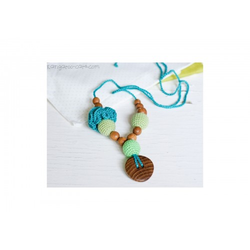 Collier flower menthe/turquoise Kangaroocare