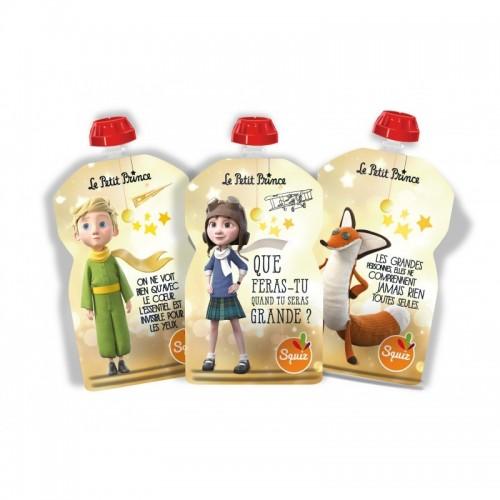Lot de 3 gourdes réutilisables Le Petit Prince 130ml