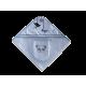 Cape de bain et gant assorti Panda Bleu