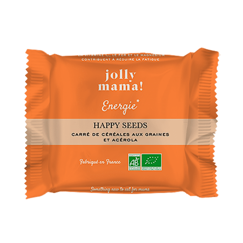 Carré de céréales bio HAPPY SEEDS Jolly Mama