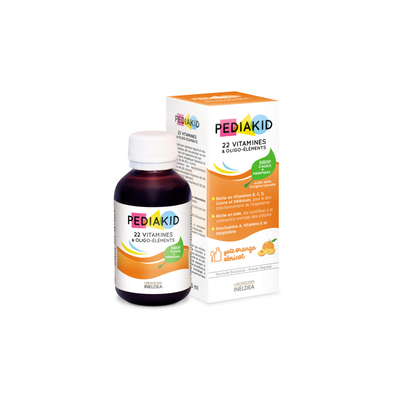 22 Vitamines et Oligo-éléments PEDIAKID